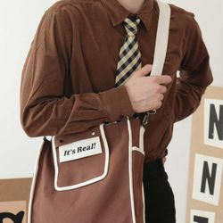 LINE TWO WAY BAG (brown)
