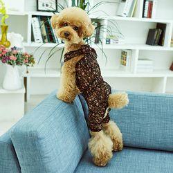 강아지옷 편안한 올인원  블랙 플라워 레이스