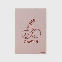 엽서 Twin cherries-Indy pink