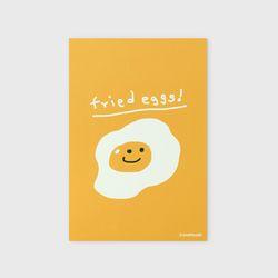 엽서 Fried eggs-yellow