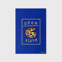 엽서 Delicious pizza-blue
