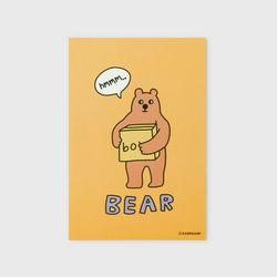 엽서 Bear box-mustard