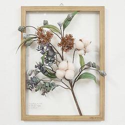 보타니컬 투명액자-살구목화 그린잎 A3