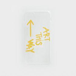 투명케이스 옐로우 아트 (아이폰6플러스)