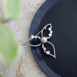 바이데이지 8Bh0134 수초석 원석 크리스탈 브로치