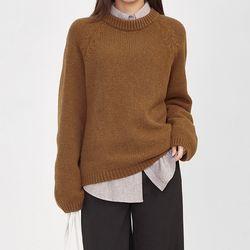 FRESH A raglan wool knit