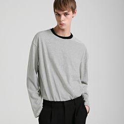 스몰 스트라이프 라운드 티셔츠 (3color)