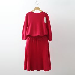 Hoega Wool Fit N Flare Knit Dress