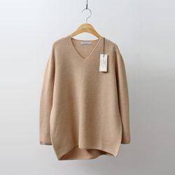 Hoega 캐시미어 Wool V-Neck Sweater