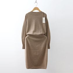 Hoega 캐시미어 Wool Coccon Knit Dress