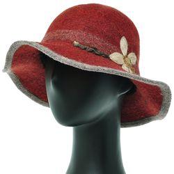 [더그레이]EKU33.니트꽃 펠트 울 여성 벙거지 모자