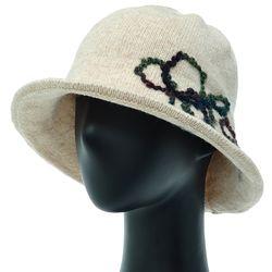 [더그레이]EKU32.실장식 튤립 니트 여성 벙거지 모자