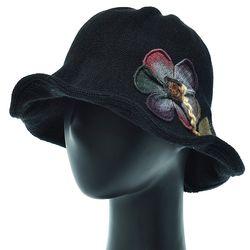 [더그레이]EKU31.꽃패치 튤립 니트 여성 벙거지 모자