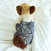 강아지옷 편안한 올인원  라일락 아르누보 쉬폰