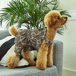 강아지옷 편안한 올인원  화이트 아르누보 쉬폰