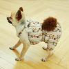 강아지옷 편안한 올인원  화이트 블라썸 쉬폰