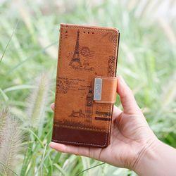 LG Q7 (LG Q720) Luv-Vint 지갑 케이스