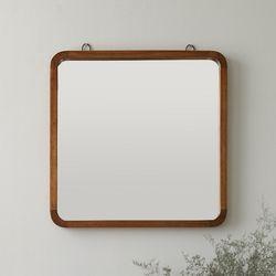아바스토 원목 사각 벽거울
