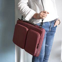 A42 맥북 노트북 가방 15인치-15.6인치 버건디