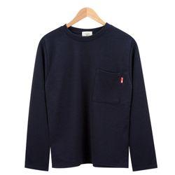 모던 베이직 포켓 포인트 네이비 티셔츠MOD024