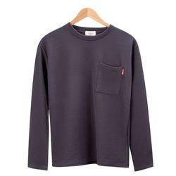 모던 베이직 포켓 포인트 차콜 티셔츠MOD024