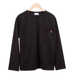 모던 베이직 포켓 포인트 블랙 티셔츠MOD024