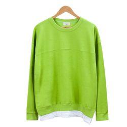 레이어드 스트라이프 형광색 티셔츠MOD017