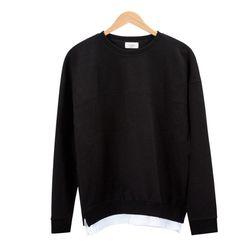 레이어드 스트라이프 블랙 티셔츠MOD017
