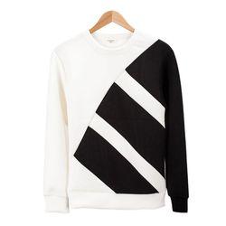 네오프렌 오블리크 와이드 화이트 티셔츠MOD012