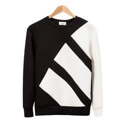 네오프렌 오블리크 와이드 블랙 티셔츠MOD012