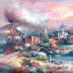 500조각 직소퍼즐 - 제임스 리 - 매리랜드 기차 (LA500-036)
