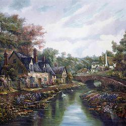 500조각 직소퍼즐 - 계곡옆 시골집 (LA500-019)
