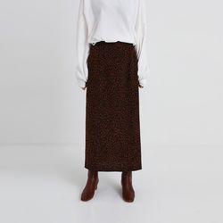 mini leopard long skirt (2colors)