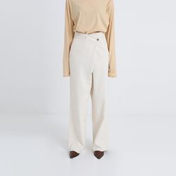 cotton lap wide pants (2colors)