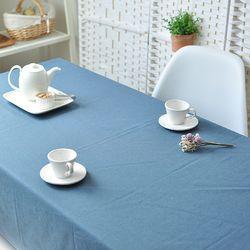 리아 린넨식탁보(블루-2인110cm)