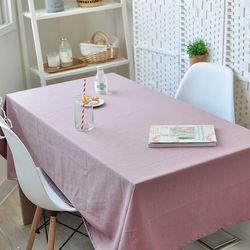 리아 린넨식탁보(핑크-2인140cm)