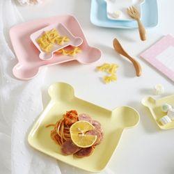 곰돌이 세라믹 접시