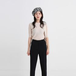 twist half slim knit (2colors)