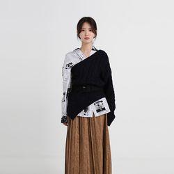 one shoulder twist knit (3colors)