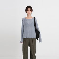 mood pleats blouse (4colors)