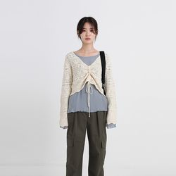 v-string knit (2colors)