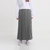 dark check pleats skirt