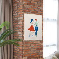 댄스댄스 패브릭 포스터.가리개커튼 (M 사이즈)