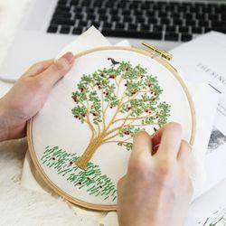 프랑스자수 DIY 패키지 나의 사과나무