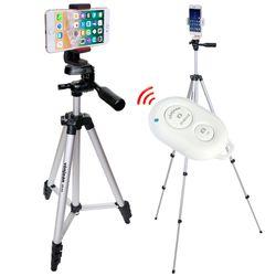 KM-543D 가로세로 회전형 스마트폰 삼각대 리모컨 SET