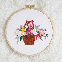 프랑스자수패키지 DIY 패키지 꽃바구니