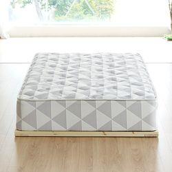 다제닌 편백나무 원목 마루 깔판형 침대프레임 슈퍼싱