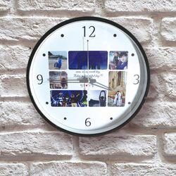 포토사진 7장 이니셜 DIY 벽시계