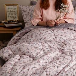 벨베나 핑크 순면 트윌 차렵이불(Q)