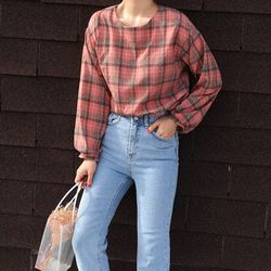 Vintage check blouse